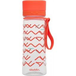 Steklenička aladdin aveo 0.35l rdeča s potiskom