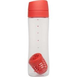 Steklenička za vodo infuse s filtrom 0.70l rdeča