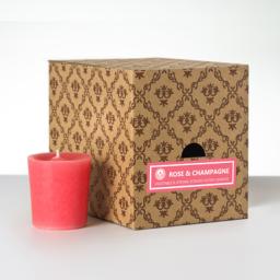 12 votivnih sveč v darilni škatli - Vrtnica-Šampanjec