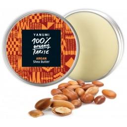 100% naravno karitejevo maslo z arganovim oljem, 100 ml