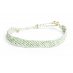 Zapestnica flat pletena - minty zelena