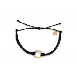 Zapestnica zlata krog- črna