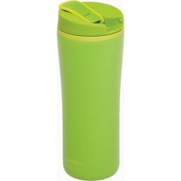 Reciklirani termo lonček flip-seal 0.35l zelen