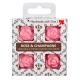 4 dišeči voski v darilni škatlici - Vrtnica-Šampanjec