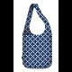 cross body nakupovalna vrečka modri kvadratki
