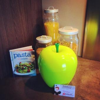 Posoda za hrano jabolko – zelena