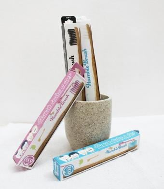 Eko zobna ščetka bambus otroška - roza
