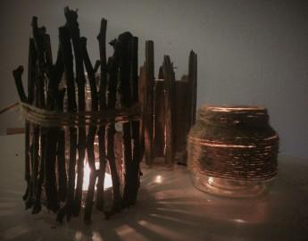 Jesenski svečniki v temi